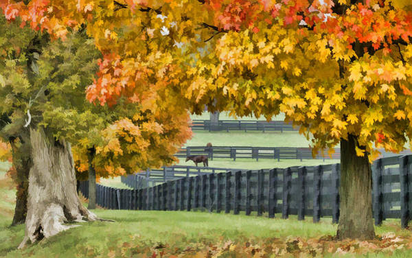 Painting - Autumn Pastures by Dean Wittle