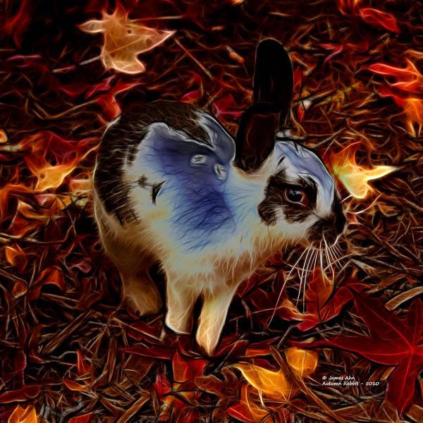Digital Art - Autumn Rabbit 5010 - James Ahn by James Ahn