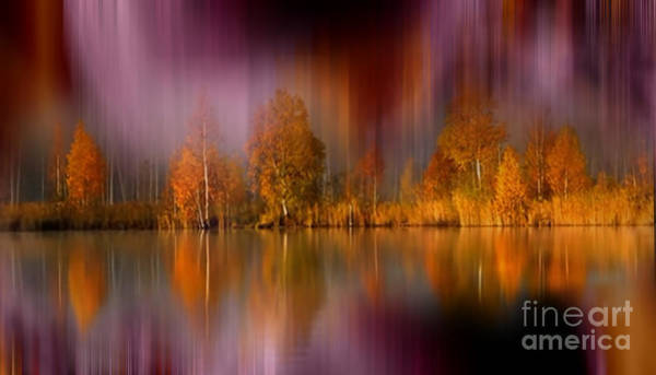 Wall Art - Photograph - Autumn Reflection Digital Photo Art by Heinz G Mielke