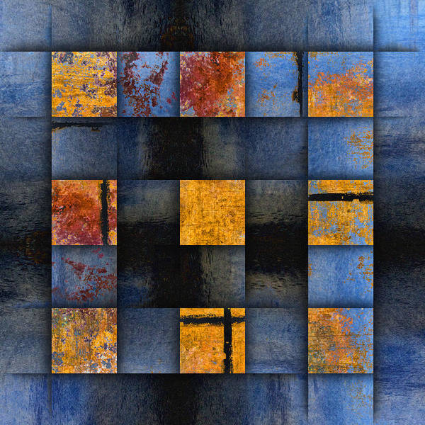 Grid Photograph - Autumn Reflections by Carol Leigh