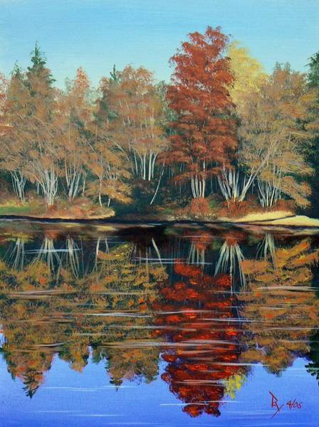 Painting - Autumn Reflections by Ray Nutaitis