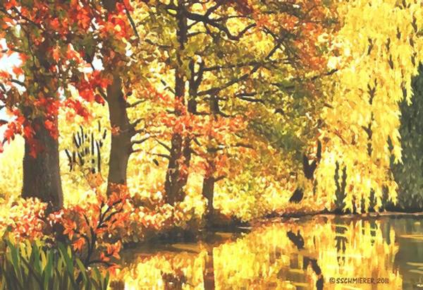 Painting - Autumn Reflections by Sophia Schmierer
