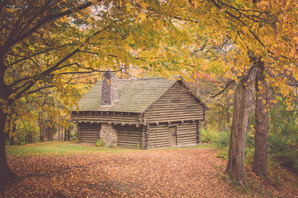 Cabin In The Woods Wall Art - Photograph - Autumn Retreat by Sara Frank