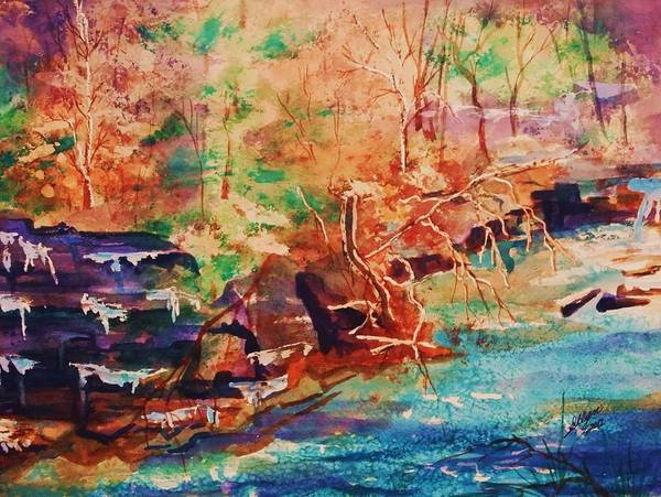 Upstate New York Painting - Autumn Reverie by Ellen Levinson