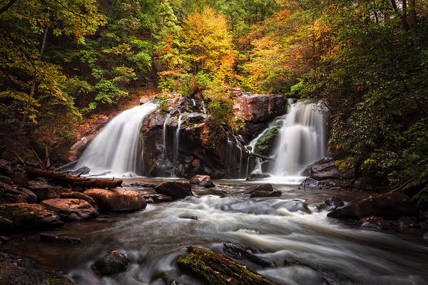 Whitewater Falls Photograph - Autumn Rush by Debra and Dave Vanderlaan