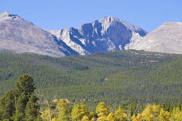 Photograph - Autumn Season View Of Co Rocky Mountains Longs Peak by James BO Insogna