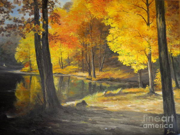 Painting - Autumn Silence  by Sorin Apostolescu