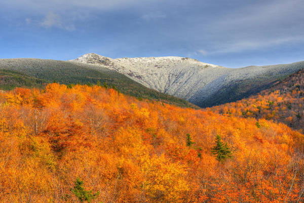 Photograph - Autumn Snow On Mount Lafayette by Ken Stampfer