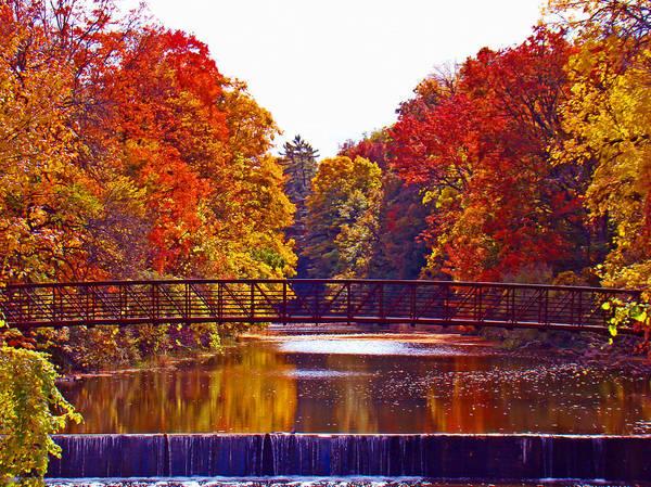 Spillway Photograph - Autumn Splendor by Al Bourassa
