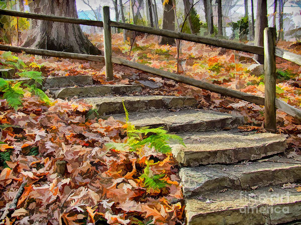 Wall Art - Painting - Autumn Steps by Dan Carmichael