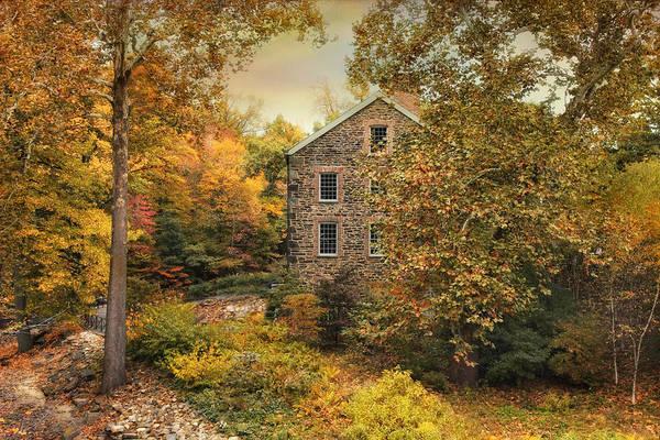 Autumn Stone Mill Art Print