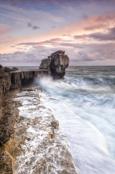 Wall Art - Photograph - Autumn Storms At Portland's Pulpit Rock by Chris Frost