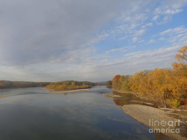 Photograph - Autumn Sun At The River by Christina Verdgeline