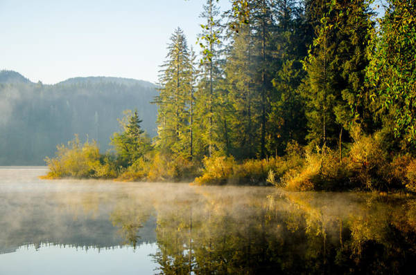 Photograph - Autumn Sunrise Fairy Lake by Roxy Hurtubise
