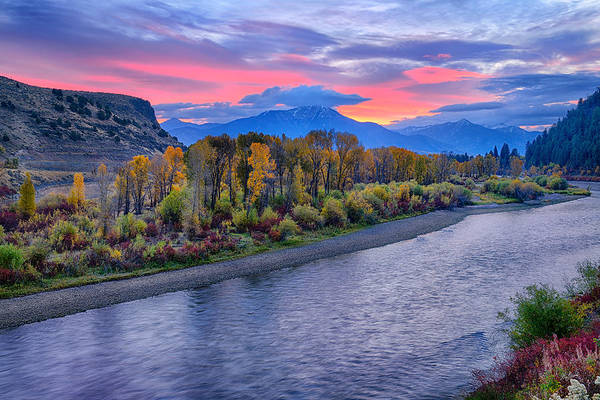 Photograph - Autumn Sunrise On The Snake River by Greg Norrell