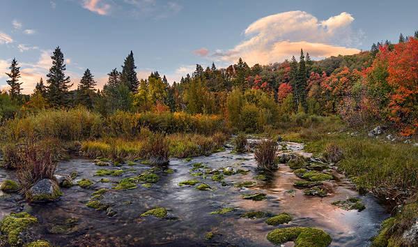 Photograph - Autumn Sunset by Leland D Howard