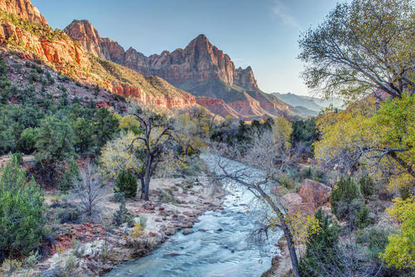 Photograph - Autumn Sunset On The Watchman by Pierre Leclerc Photography