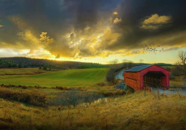 Storm Photograph - Autumn Sunset Over Meech Creek And by Richard Desmarais / Design Pics