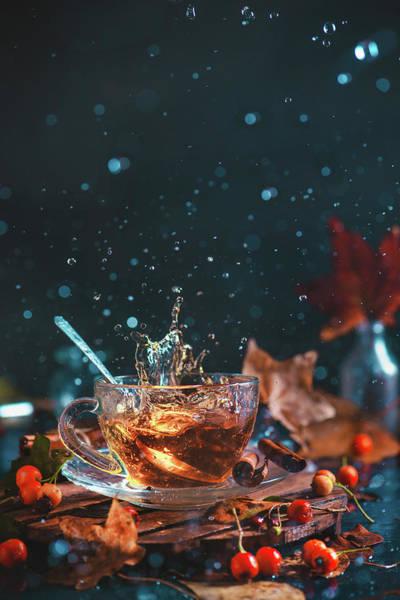 Liquid Wall Art - Photograph - Autumn Teatime by Dina Belenko