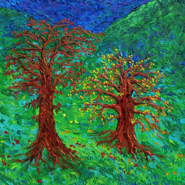 Essence Digital Art - Autumn Tree Blues by Julie Turner