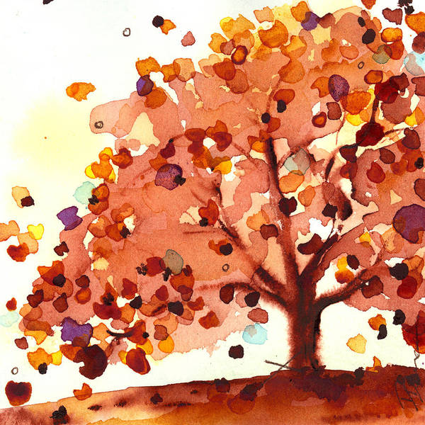 Painting - Autumn Tree by Dawn Derman
