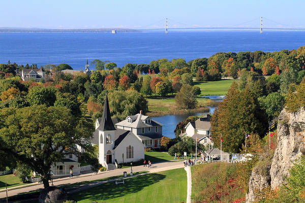 Autumn View On Mackinac Island Art Print