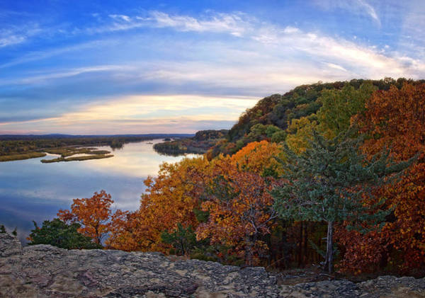 Photograph - Autumn Vista At Ferry Bluff by Leda Robertson