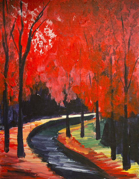 Painting - Autumn Walk  by Richard Fritz