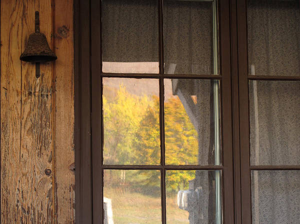 Photograph - Autumn Window Reflections by Nancy De Flon