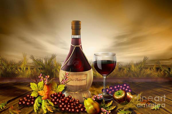 Wall Art - Digital Art - Autumn Wine by Peter Awax