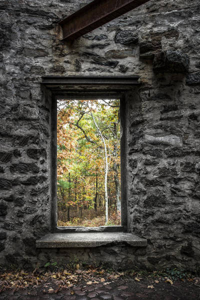 Photograph - Autumn Within Cunningham Tower - Historical Ruins by Gary Heller