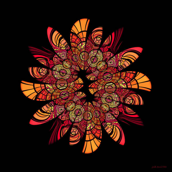 Digital Art - Autumn Wreath by Judi Suni Hall