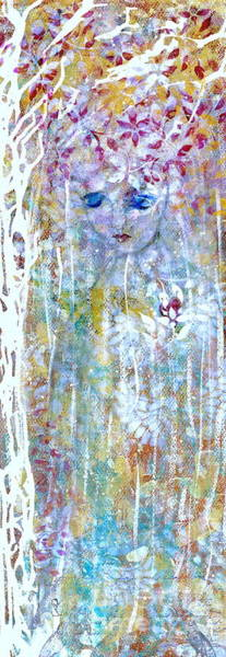 Wall Art - Painting - Autumnal Angel by Nancy TeWinkel Lauren