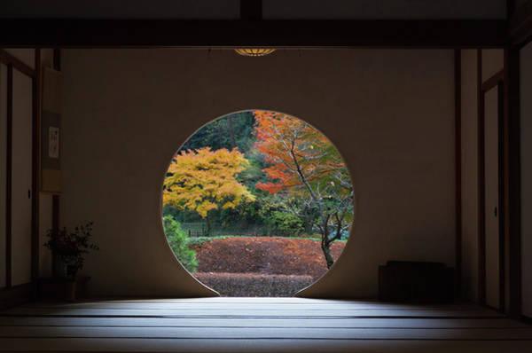 Kamakura Wall Art - Photograph - Autumnal View Through Traditional Room by Tom Bonaventure