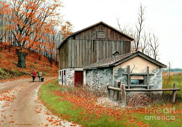Wall Art - Painting - Autumn's Past Time  by Michael Swanson