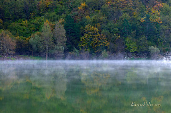 Photograph - Autunno Alba Sul Lago - Autumn Lake Dawn 9588 by Enrico Pelos