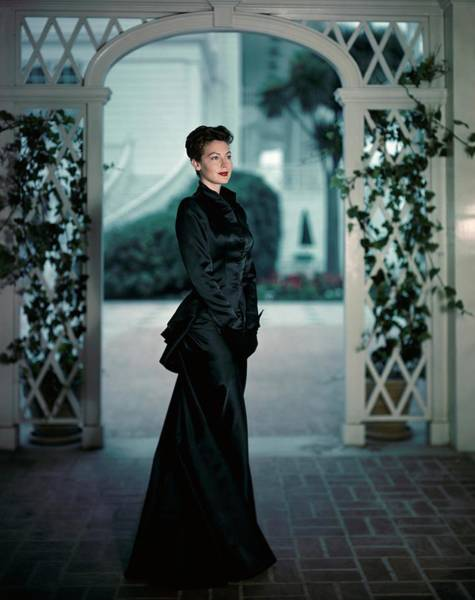 Evening Gown Photograph - Ava Gardner Wearing A Long Satin Gown by Luis Lemus
