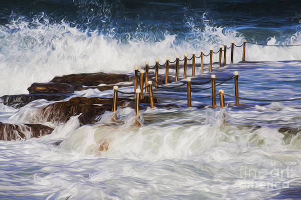 Wall Art - Photograph - Avalon Rockpool In A Storm by Sheila Smart Fine Art Photography