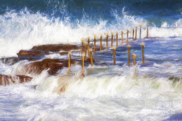 Wall Art - Photograph - Avalon Rockpool With Crashing Waves by Sheila Smart Fine Art Photography