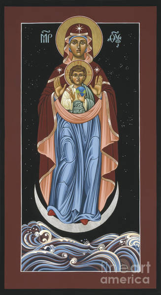 Ave Maris Stella  Hail Star Of The Sea 044 Art Print