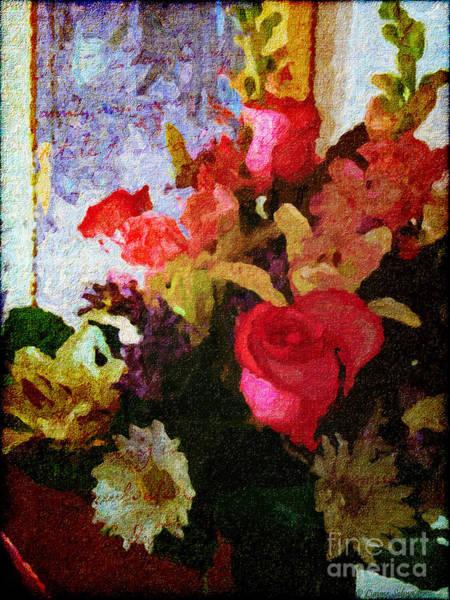 Rose Flower Digital Art - Avec Tout Mon Coeur by Lianne Schneider