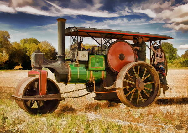 Art Print featuring the photograph Aveling Porter Road Roller by Paul Gulliver