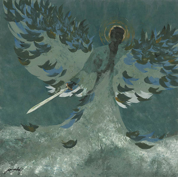 Sword Painting - Avenging Angel by John Wyckoff