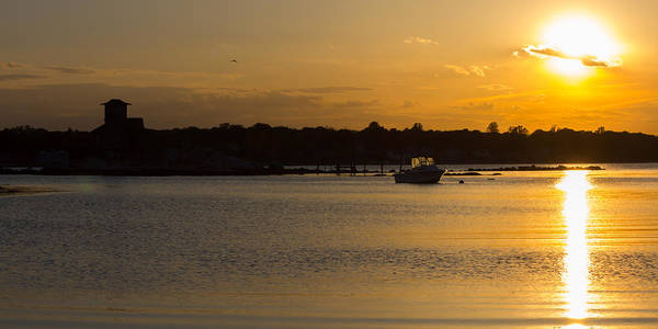Photograph - Avery Point Sunset Scene by Kirkodd Photography Of New England