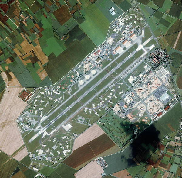 Military Air Base Photograph - Aviano Air Force Base by Geoeye/science Photo Library