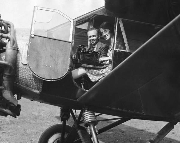 1929 Photograph - Aviator Clarence Chamberlin by Underwood Archives