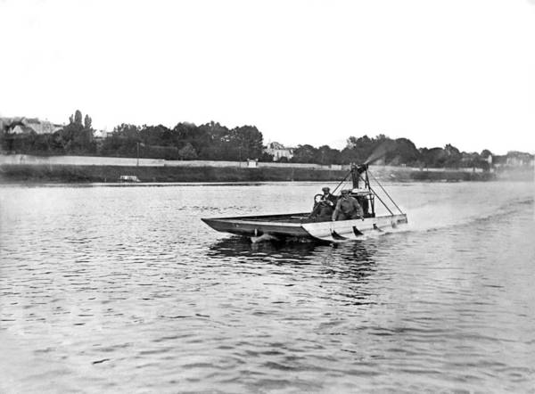 Airboat Photograph - Aviator Sets Water Record by Underwood Archives