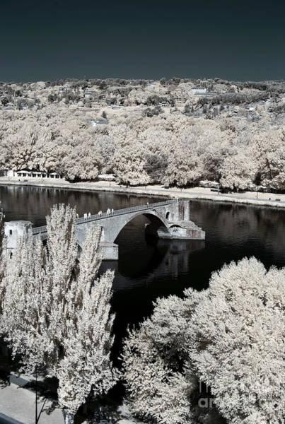 Photograph - Avignon Bridge Infrared by John Rizzuto