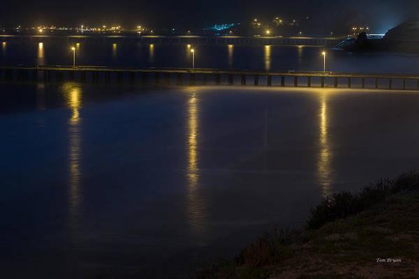 Photograph - Avila Pier At Night by Tim Bryan