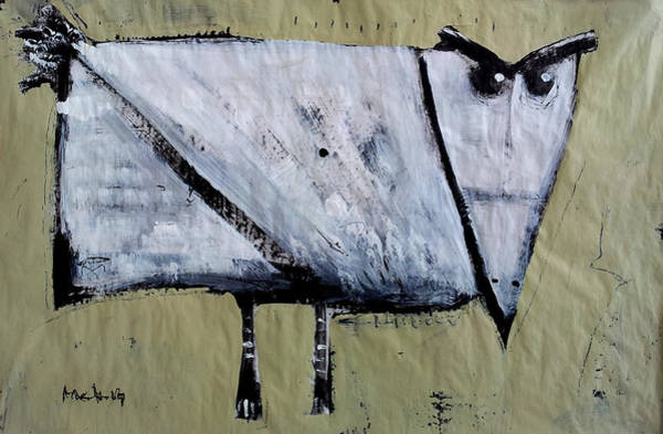 Outsider Art Painting - Avis No 2 by Mark M  Mellon